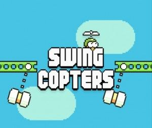 If you think Flappy Bird was tough, try playing its sequel, Swing Copters
