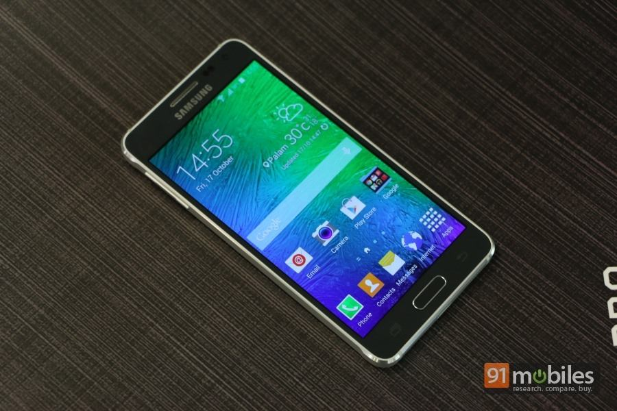 clad galaxy smartphone in the form of the galaxy alpha