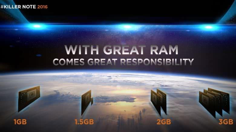 Lenovo K4 Note RAM