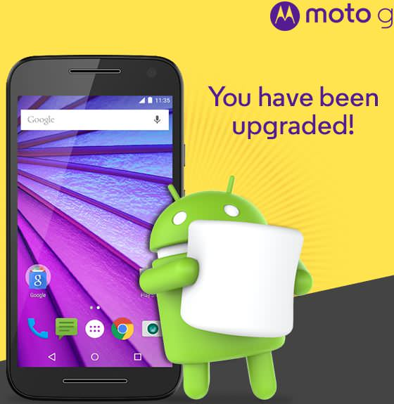 Moto G 3rd gen Marshmallow update India