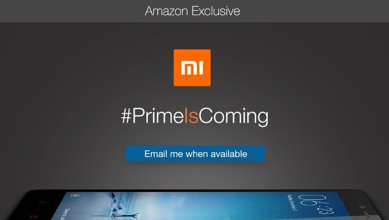 Xiaomi Redmi Note 2 Prime Amazon India teaser