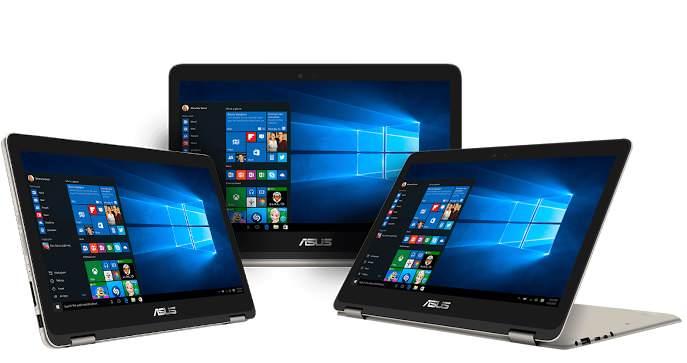 ASUS ZenBook Flip modes
